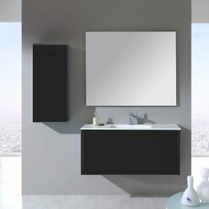O-DESIGN Meuble suspendu Ottobel 110CM ANTHRACITE