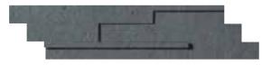 CERCOM Mosaico 3D DARK 15x60 cm/6x24in