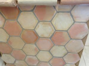 Terres cuites 17,5cm hexagone